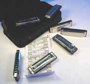 Hohner Blues Band Set - set 7 foukacích harmonik