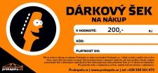 Dárkový šek 200,- Kč k nákupu na Hudebni-dum.cz