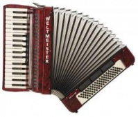Weltmeister Model Achat 34/80/III/5/3 klávesový akordeon