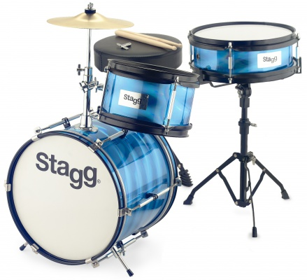 Stagg TIM JR 3/12B BL - junior sada bicích