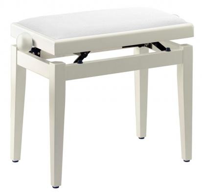 Klavírní lavička nastavitelná - bílý mat