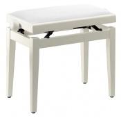 Truwer TB 05 WHM VWH - klavírní stolička bílá