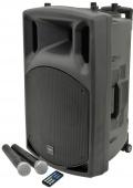 """QTX QX 15 - mobilní 15"""" řečnický systém, SD/USB/2x VHF/FM/Bluetooth"""