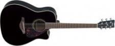 Yamaha FGX 720SC Black - elektroakustická kytara