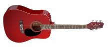 Stagg SA20 D RED- westernová kytara