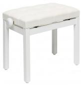 Stagg PB 36 WHM VWH - klavírní stolička bílá