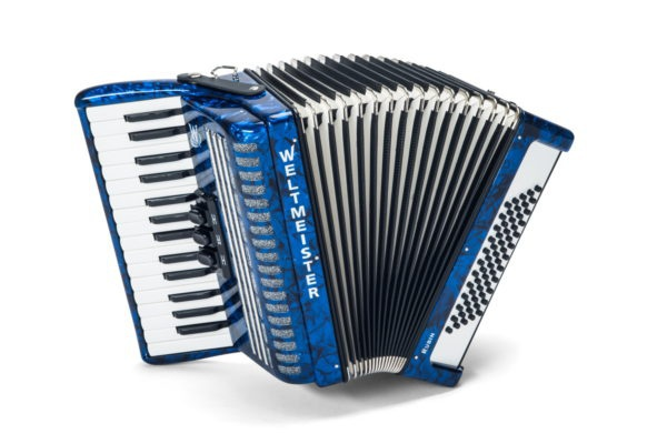 Weltmeister Model Rubin 30/60/II/3 - klávesový akordeon modrý