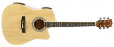 Truwer WG C 4111 NT - westernová kytara natural s výkrojem
