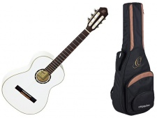 Ortega R 121 3/4 WH - klasická kytara s obalem