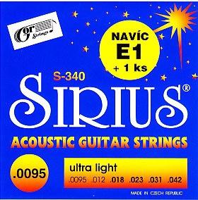 Gor Sirius S 340 sada - kovové struny pro akustickou kytaru (ultra light) 9,5/42