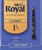 Plátek Rico Royal pro B klarinet - tvrdost 1,5