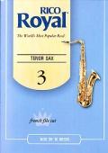 Plátek Rico Royal pro tenorový saxofon - tvrdost 3
